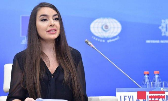 Leyla Əliyeva Ümumdünya Ərzaq Gününə həsr olunan tədbirdə çıxış edib