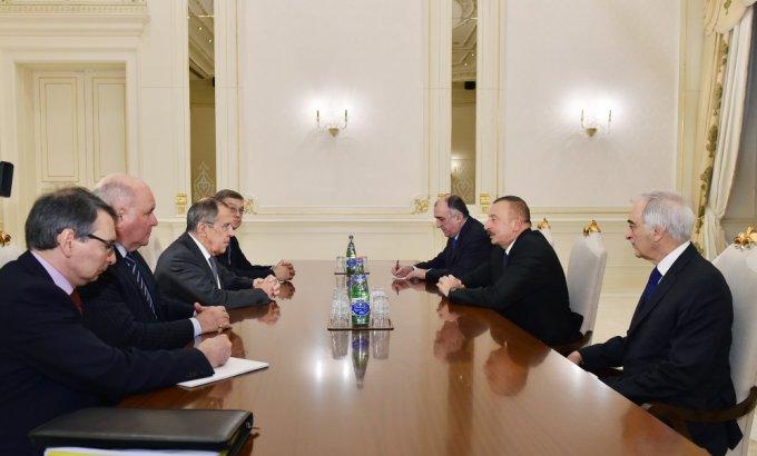 Prezident İlham Əliyev Rusiyanın xarici işlər nazirinin başçılıq etdiyi nümayəndə heyətini qəbul edib