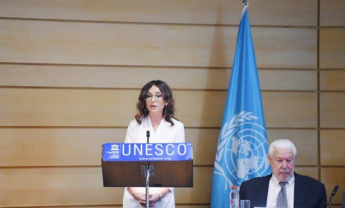 Mehriban Əliyeva Parisdə UNESCO-nun konfransında iştirak edib