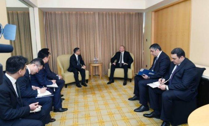 Prezident İlham Əliyev Pekində görüşlərini davam etdirir