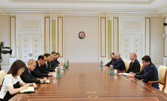 Prezident İlham Əliyev Çin Kommunist Partiyası Mərkəzi Komitəsinin nümayəndə heyətini qəbul edib