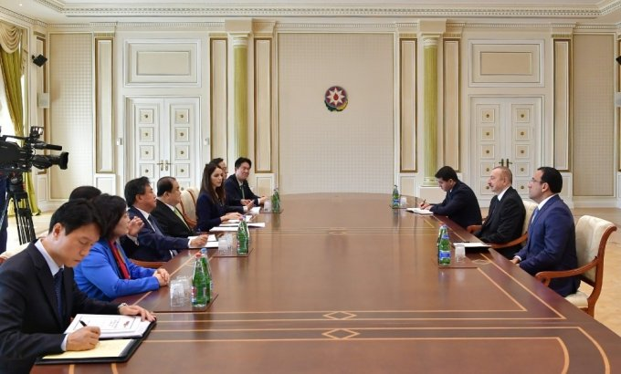 Prezident İlham Əliyev Koreya Milli Assambleyasının sədrini qəbul edib