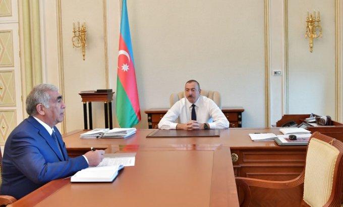 Prezident İlham Əliyev Saleh Məmmədovu qəbul etdi