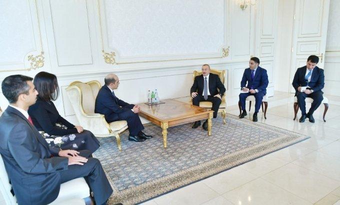 Prezident İlham Əliyev yeni səfirləri qəbul etdi (FOTOLAR)