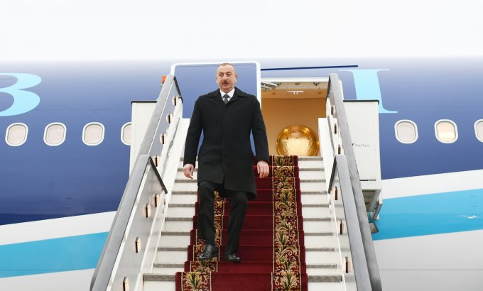Prezident İlham Əliyevin İsveçrəyə işgüzar səfəri başlayıb
