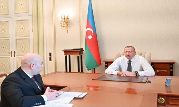 Prezident İlham Əliyev BNA-nın sədrini qəbul etdi