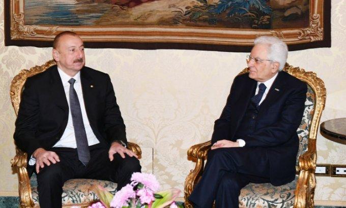 İlham Əliyev İtaliya Prezidenti ilə görüşdü