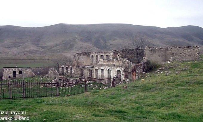 Füzuli rayonunun Qarakollu kəndindən görüntülər - VİDEO