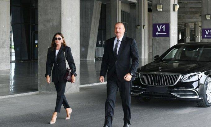 Prezident və xanımı yeni Turizm Kompleksinin təməlqoyma mərasimində