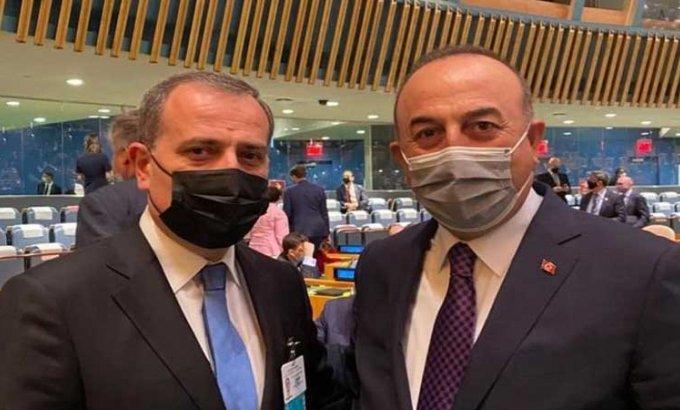 Ceyhun Bayramov Nyu-Yorkda Mövlud Çavuşoğlu ilə görüşdü